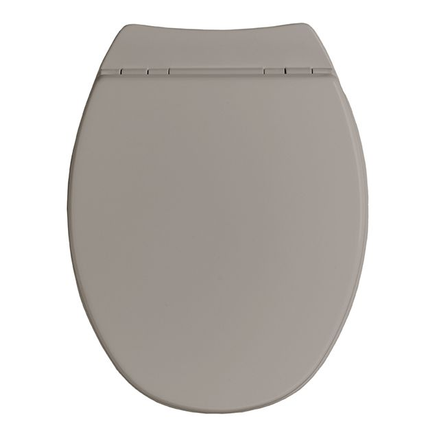 allibert abattant wc avec frein de chute taupe 819945. Black Bedroom Furniture Sets. Home Design Ideas