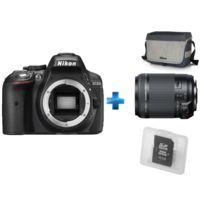 Appareil photo reflex noir - D5300 nu + Sac + 18-200mm F/3.5-6.3 Di II VC - monture + Carte mémoire 16Go