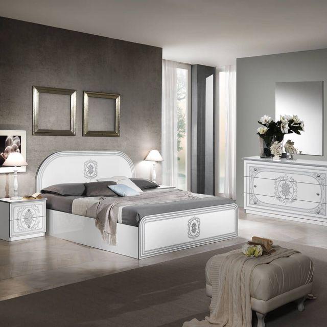 Altobuy Solaya - Chambre avec Lit 160x200cm et Commode