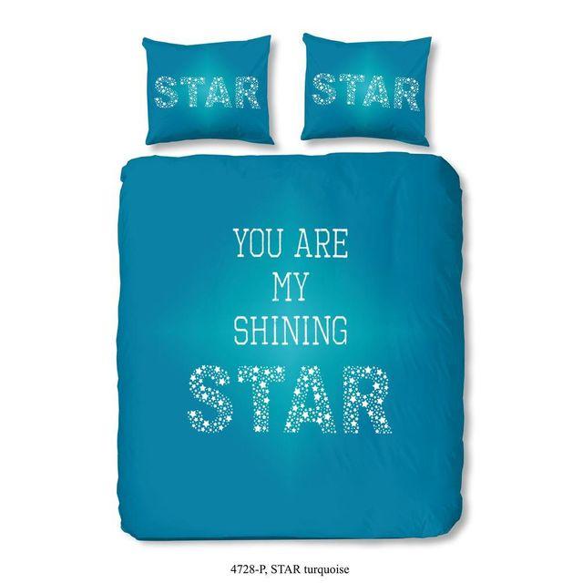 Emob Housse de couette Star Turquoise 200x220cm