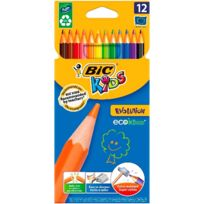 BIC - Lot de 12 Crayons de couleur Kids Evolution ECOlutions