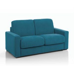 canap convertible 3 places tissu d houssable bleu. Black Bedroom Furniture Sets. Home Design Ideas