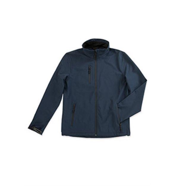 Stedman Softshell imperméable Active - Homme L, Bleu Utab307