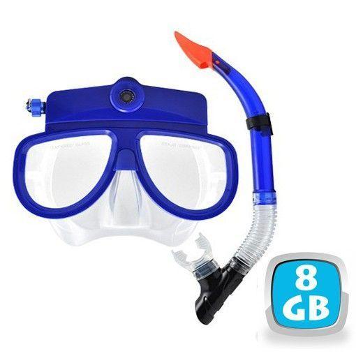 Yonis Masque de plongée caméra et mini appareil photo Usb 8 Go