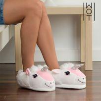 9e66cf34498b0 Chaussons en forme de licorne - Pantoufle drole marrante cadeau Taille des  chaussures - 41