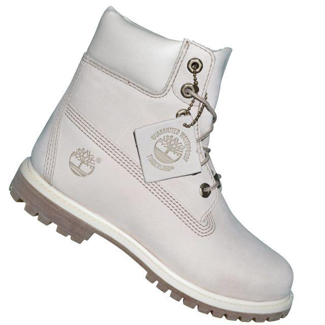 17ecde8c60b Timberland - Chaussures Boots 6 In Premium Winter 23623 - Off White Ecru 38  1 2 - pas cher Achat   Vente Boots femme - RueDuCommerce
