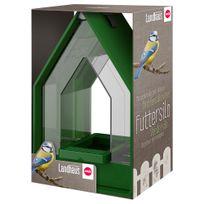 Emsa - Mangeoire Silo Landhaus pour Oiseaux - Vert Foncé