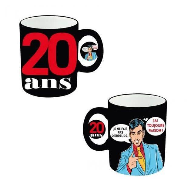 surprisez vous cadeau mug anniversaire homme 20ans x1 ref mugah02 pas cher achat vente. Black Bedroom Furniture Sets. Home Design Ideas
