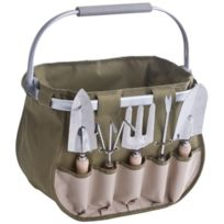 Zeller - 16002 Kit De Jardinier En Polyester/MÉTAL/BOIS 38 X 23 X 32 Cm 6 PiÈCES