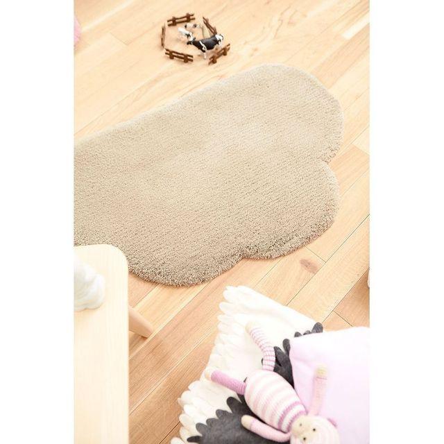 Tapis Nuage Bb Taupe par pour chambre bebe garçon ou fille - Couleur -  Taupe, Taille - 60 x 100 cm