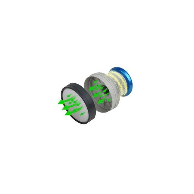 E-ZICLEAN - Aspirateur balai 2 en 1 e.ziclean CYCLOMAX