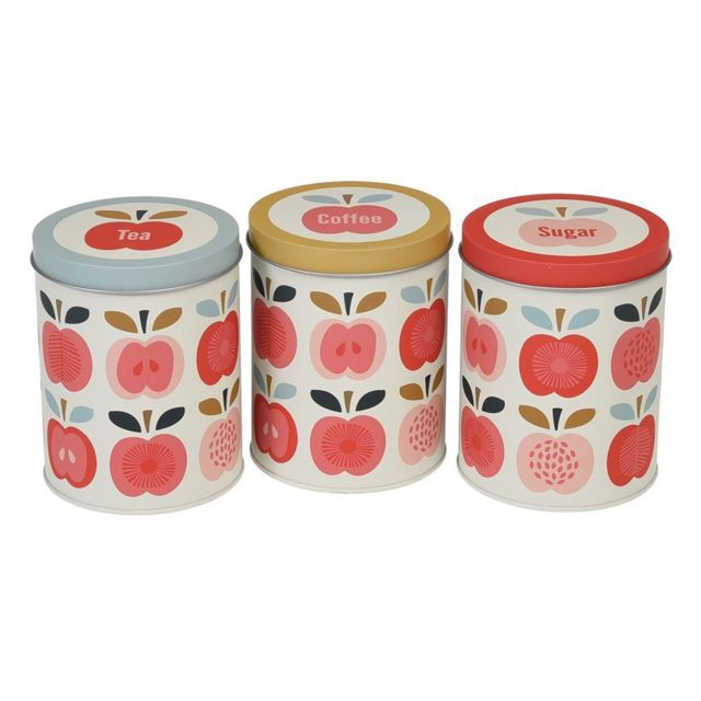 Dotcomgiftshop Set de 3 Boîtes Vintage Apple