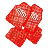 Custo Auto - Tapis pvc Metalic rouge