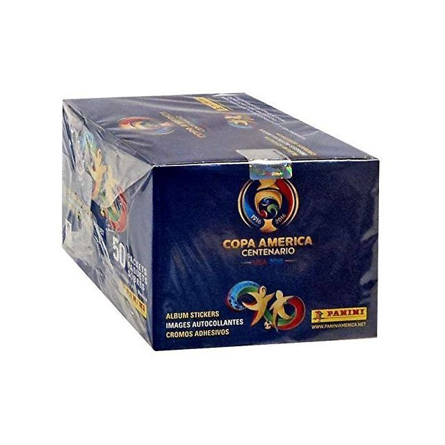 Panini Editions Usa 2016 Copa America Centenario Panini complete 50 packs box Total of 350 stickers