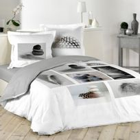 housse de couette zen achat housse de couette zen pas cher rue du commerce. Black Bedroom Furniture Sets. Home Design Ideas