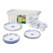 Brunner - Service mélamine 16 pièces Stack Box Blue Ocean
