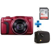 CANON - Pack Débutant -POWERSHOT-SX710-HS-ROUGE + Carte SD 16GO + Housse TBC403K