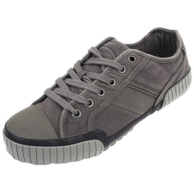 5f7a99eef1158 Tbs - Chaussures basses toile Crocky fonte canvas Gris 79695 - pas cher  Achat   Vente Baskets homme - RueDuCommerce