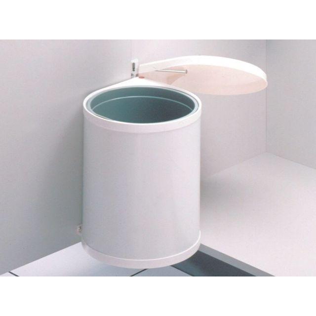 Hailo Poubelle Encastrable Compact Box 15l Blanc Pas Cher