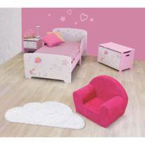 No Name   Chambre A Coucher Complete Cijep Pack Chambre Pour Enfant Fille  Rose Et Blanc