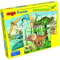 Haba - Puzzles 12 à 18 pièces : 3 puzzles dinosaures