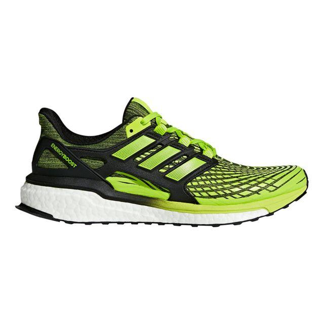 Adidas Chaussures Energy Boost bleu vert fluo noir pas