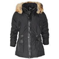 No Brand - Altrov Veste Daren noir doudoune fourrure véritable homme 3/4 long cintré - Collection hiver 2017-doudoune, fourrure, veste, doudoune, cuir, homme