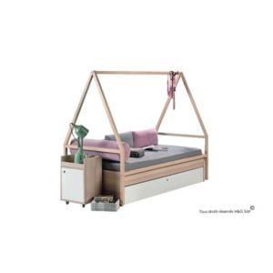 vox lit ado baldaquin tipi blanc acacia spot sans. Black Bedroom Furniture Sets. Home Design Ideas