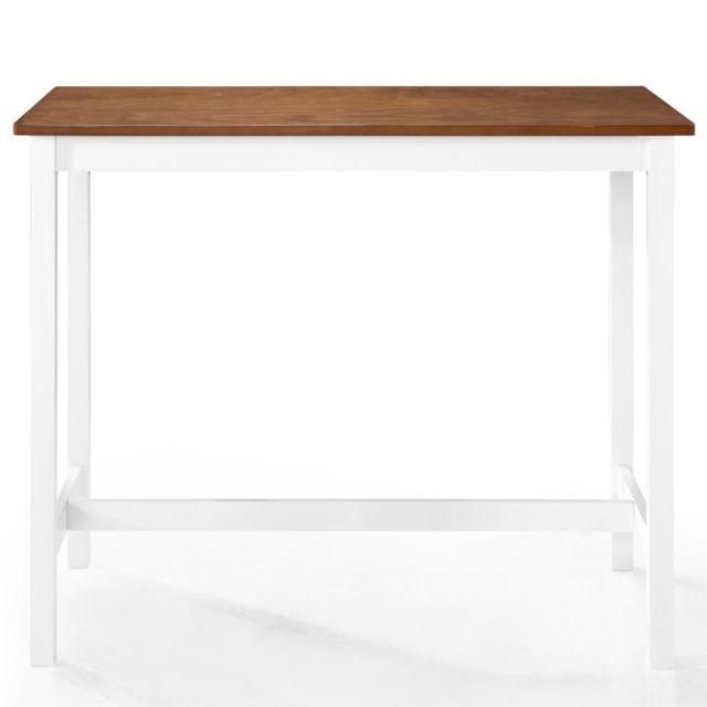MARQUE GENERIQUE Icaverne - Tables de salle à manger et de cuisine collection Table de bar Bois massif 108 x 60 x 91 cm