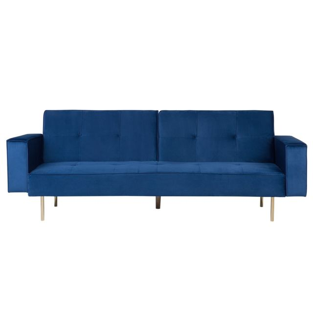 BELIANI Canapé-lit bleu marine VISNES