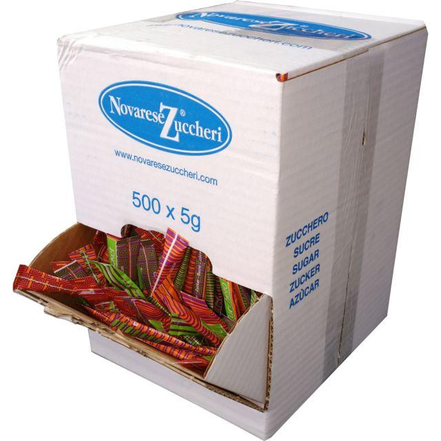NOVARESE ZUCCHERI lot de 500 sticks de sucre de 5g - sucbuc