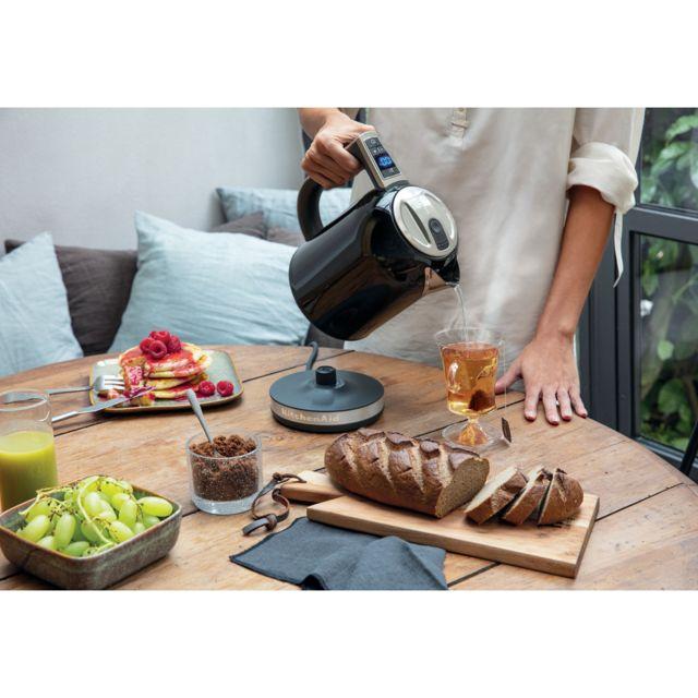 Kitchenaid bouilloire électrique de 1,7L 2400W noir onyx argent