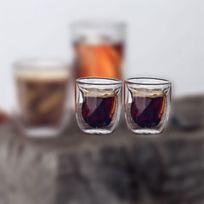 Qdo - Set De 2 Verres à Espresso 75 Ml élément Terre