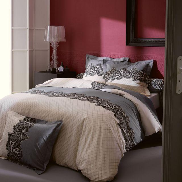 linnea parure de lit 280x240 cm 100 coton malice. Black Bedroom Furniture Sets. Home Design Ideas