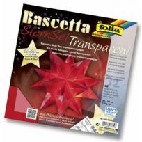 ToyCentre - Folia Bringmann Lot Bascetta ÉTOILE Transparent 20 X 20 Cm, 30 Cm De DiamÈTRE