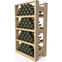 Visiorack - Meuble de rangement en bois pour 72 bouteilles - Hêtre Naturel Aci-vis302