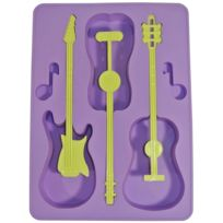 Promobo - Moule Bac à Glaçons Silicone Deco Fun Guitare Violet