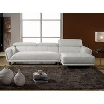 canape angle cuir blanc Achat canape angle cuir blanc pas cher