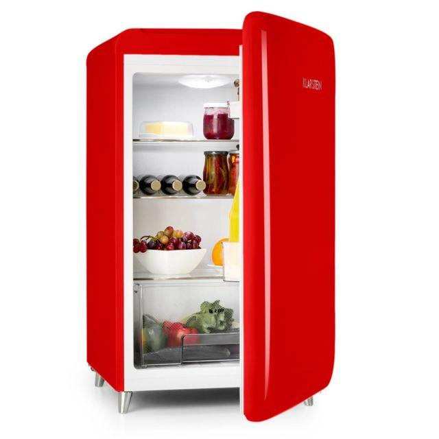 KLARSTEIN PopArt-Bar Réfrigérateur 136 litres - Classe énergétique A+ - Look rétro années 50 - Rouge