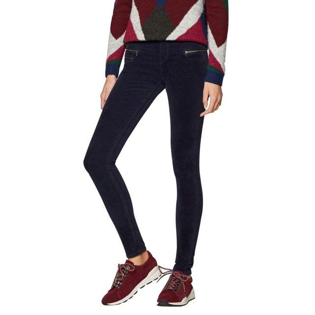 Esprit - Pantalon en velours stretch - pas