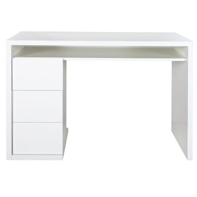Alinéa - Moneta Bureau laqué blanc avec 3 tiroirs - pas cher Achat ...