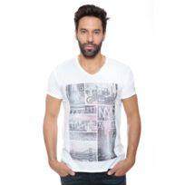 Deeluxe 74 - Tshirt Homme Apple Blanc