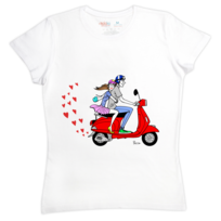 Rigolobo - Cadeau Couple : Le T-shirt femme Les Amoureux signé Pacco