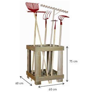 jardipolys range outils de jardin pas cher achat vente porte outils rueducommerce. Black Bedroom Furniture Sets. Home Design Ideas
