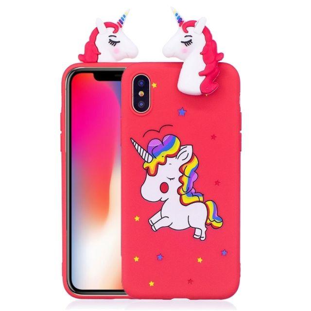 coque iphone 7 licorne 3d