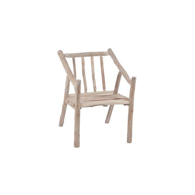 Chaise 60x71x80cm en bois naturel
