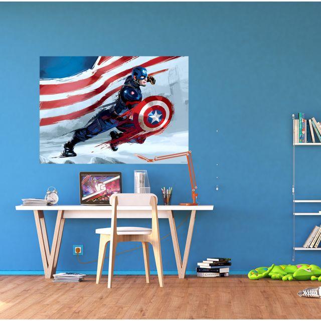 bebe gavroche  poster xxl captain america graphic marvel