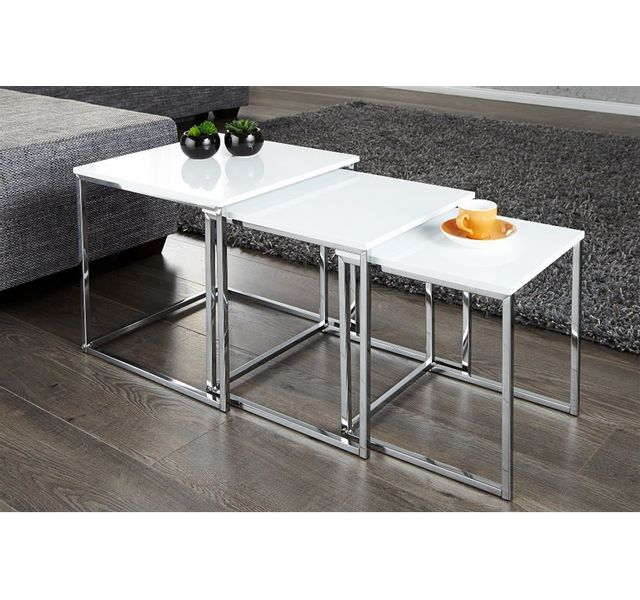 CHLOE DESIGN Table basse design Fusio2 - blanc