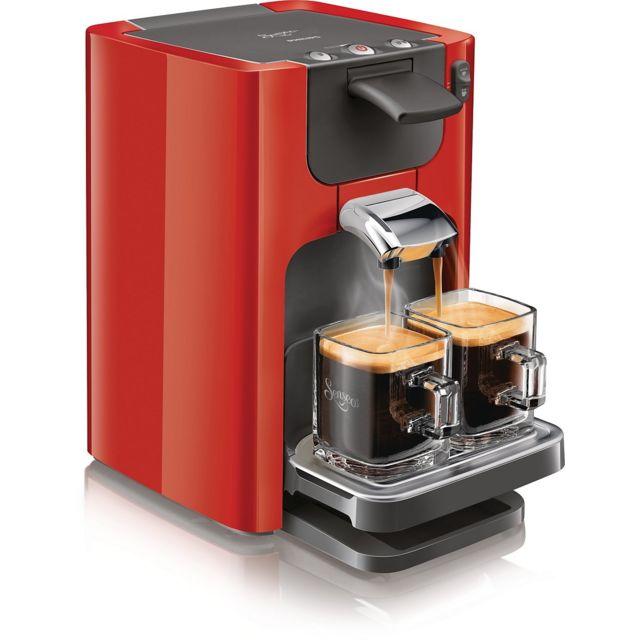 APPETIME Machine à café à dosette - SENSEO Quadrante HD7864/81 Rouge - 1,2L