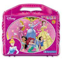 Clementoni - Malette 12 cubes Disney : Princesse Disney
